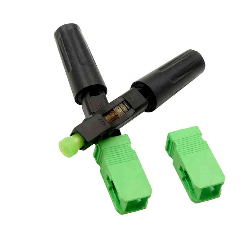100pcs Ftth Sc Apc Single Mode Fiber Optic - Quick Connector