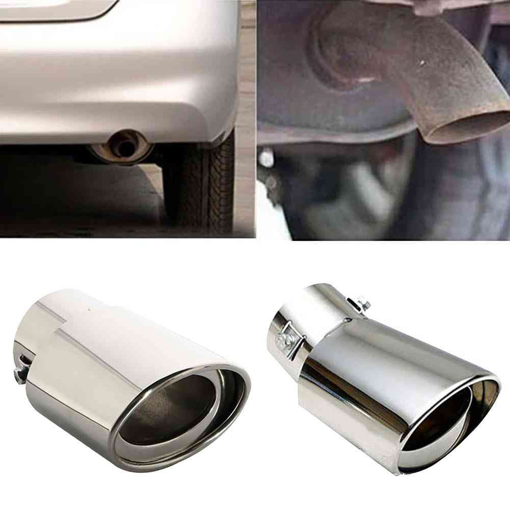 Stainless Steel Car Vehicle Rear Round Exhaust  Pipe Tail Muffler