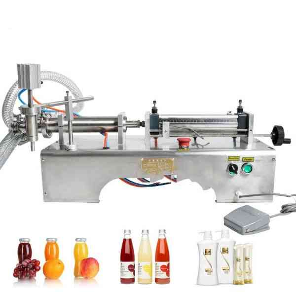 Pneumatic Piston Liquid Filler Machine