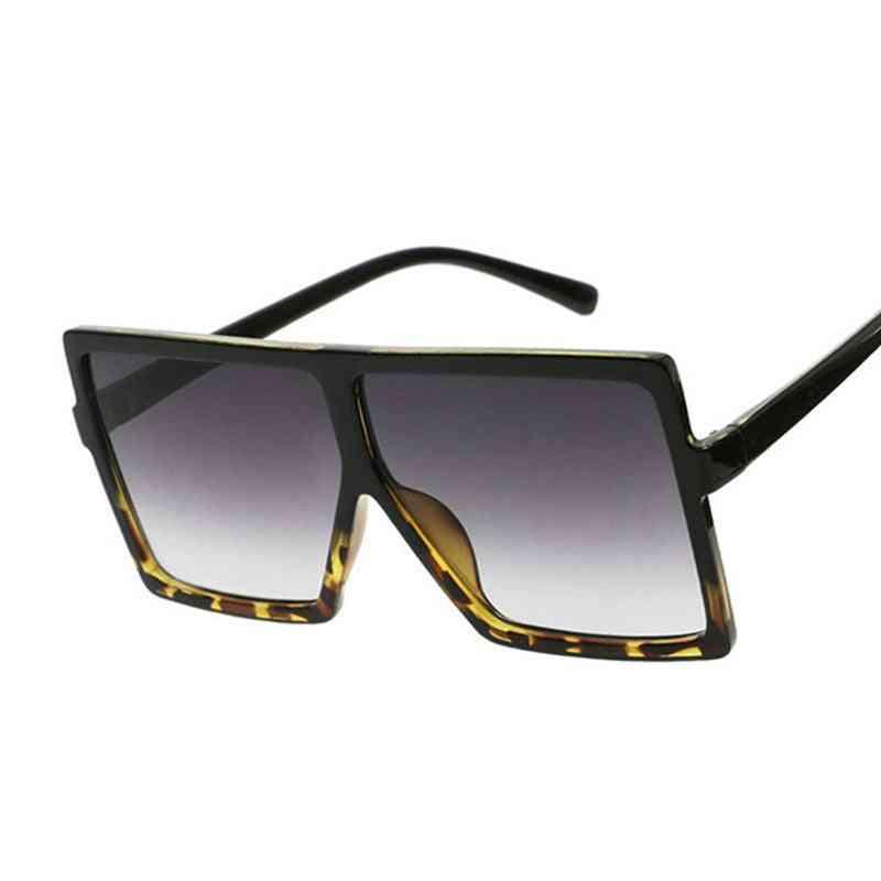 Oversized Shades Black Fashion Square Big Frame Vintage Retro Glasses
