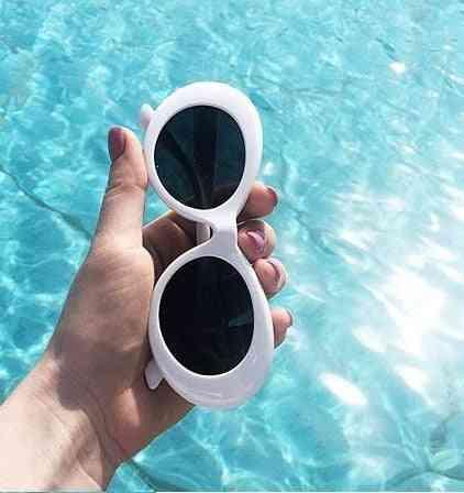 Oval Shaped, Retro Style Sunglasses