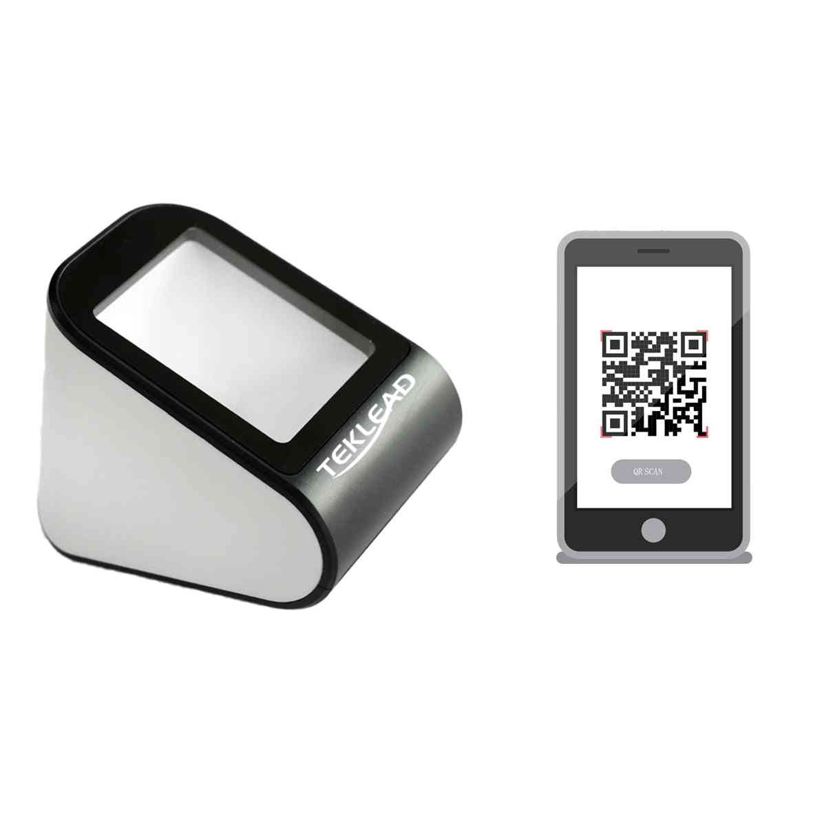 Qr Code Scanner For Mobile Phone E-ticket 1d/2d Barcode Reader Wired