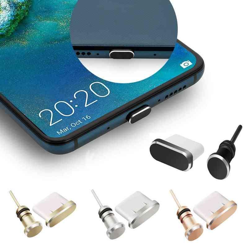 Type C Phone Dust Plug Set Usb Port Jack For Samsung Galaxy S8 Plus Huawei Lite