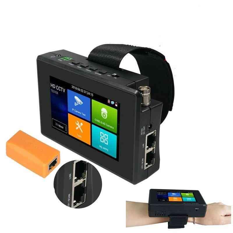 Ipc-1800adh Plus Full Ip Analog Cvi/tvi/ahd Camera, Rj45/tdr Cable Cctv Tester