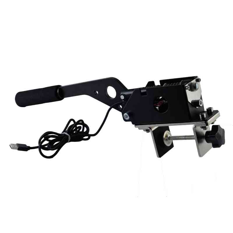 Universal Usb Handbrake Sim W/clamp For Racing Games