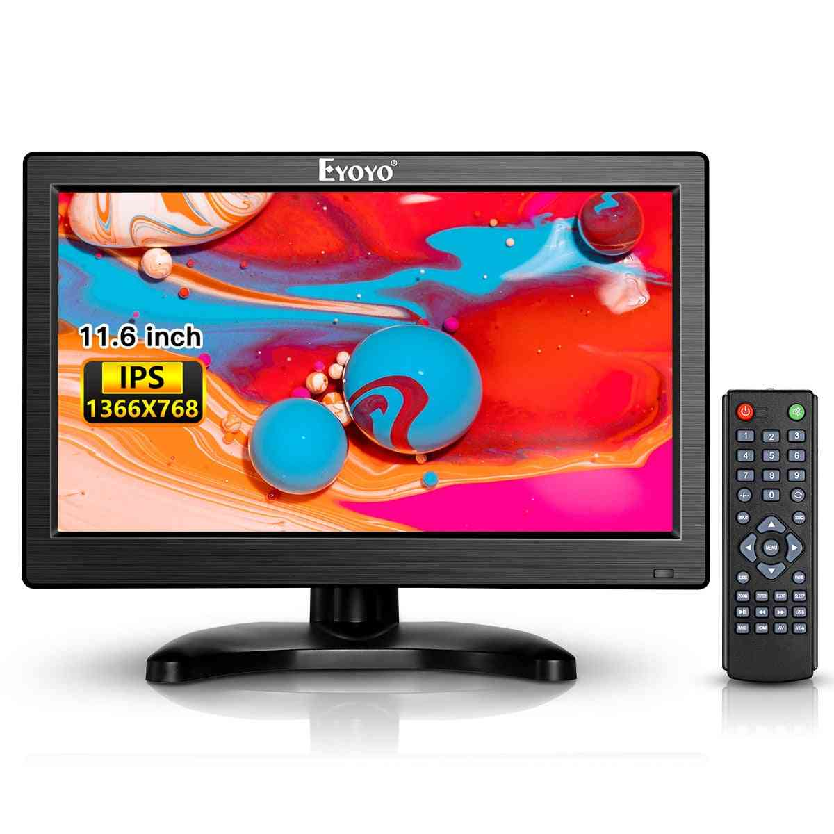 Hd Monitor, Cctv Lcd Screen With Audio Remote Control For Security Camera