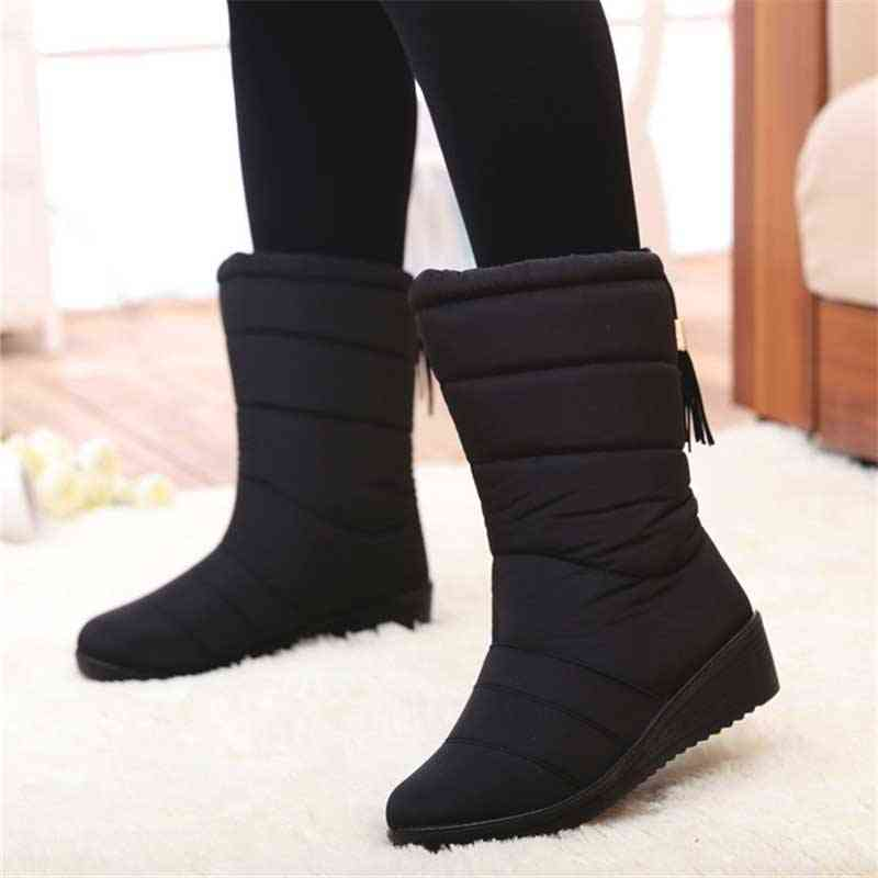 Winter Waterproof, Mid-calf Down Boots, High Snowshoes