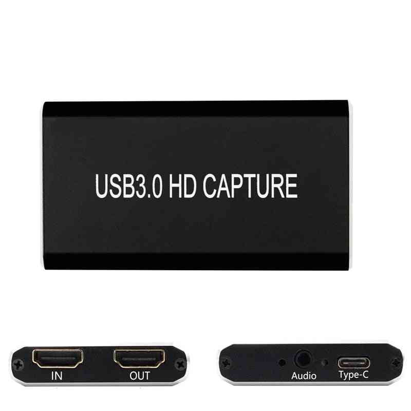 Hdmi Video Capture Card, Usb 3.0 Type C, Recorder For Ps3/ Ps4/ Tv Box