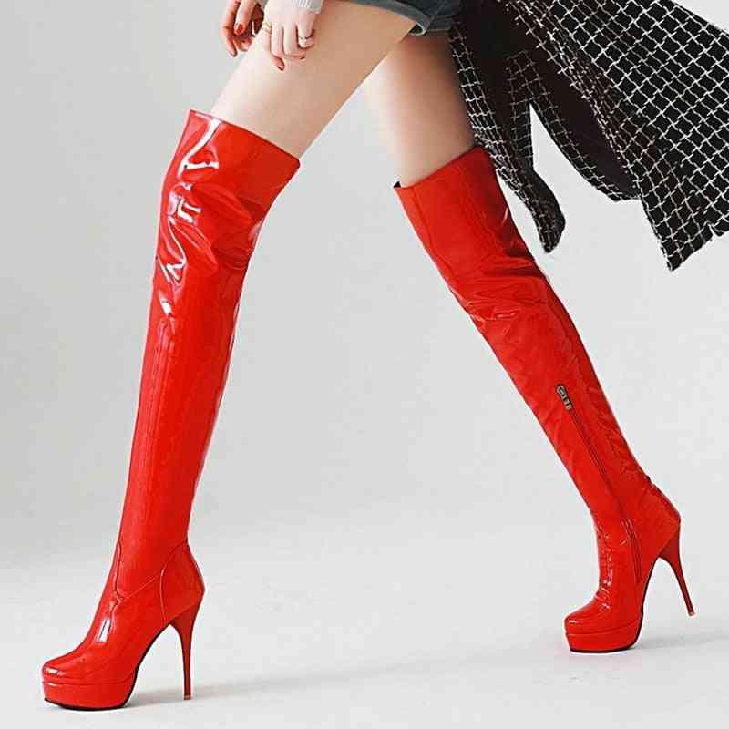 Autumn & Winter Over Knee Platform High Heels, Fetish Shoes For Woman