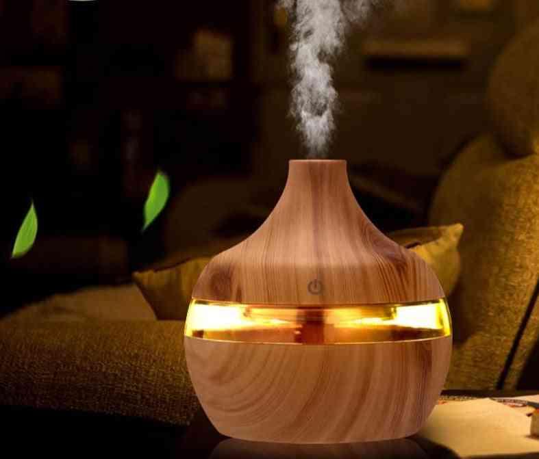 Ultrasonic Wood Grain, Humidifier Essential Aroma Oil Diffuser