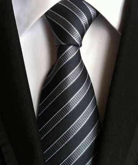 Classic Jacquard Woven, Neckties Stripe, Wedding Silk Ties
