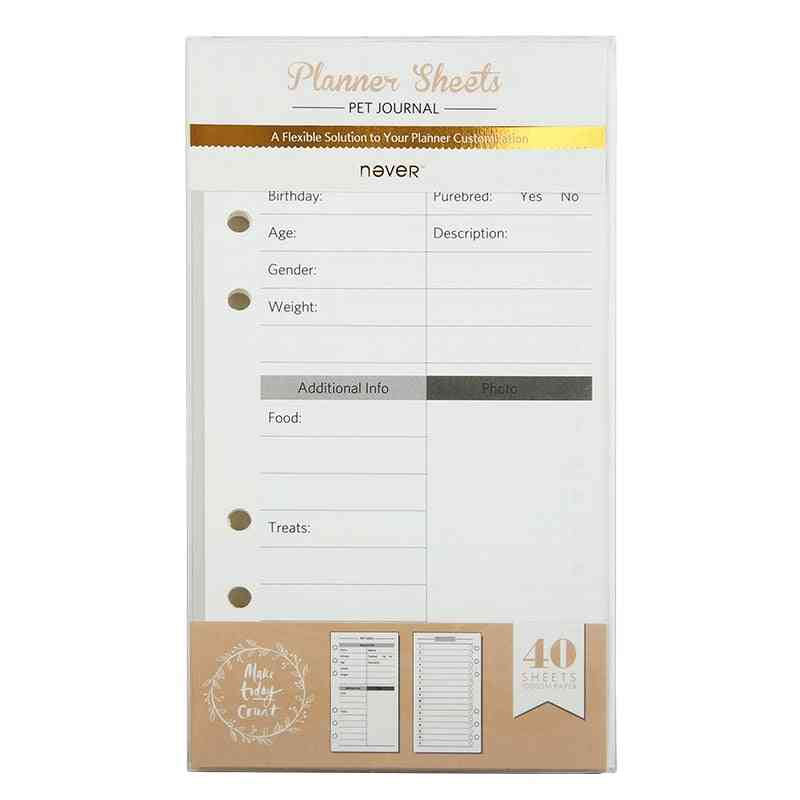 Grid Page Journal Planner Sheets Filler Papers