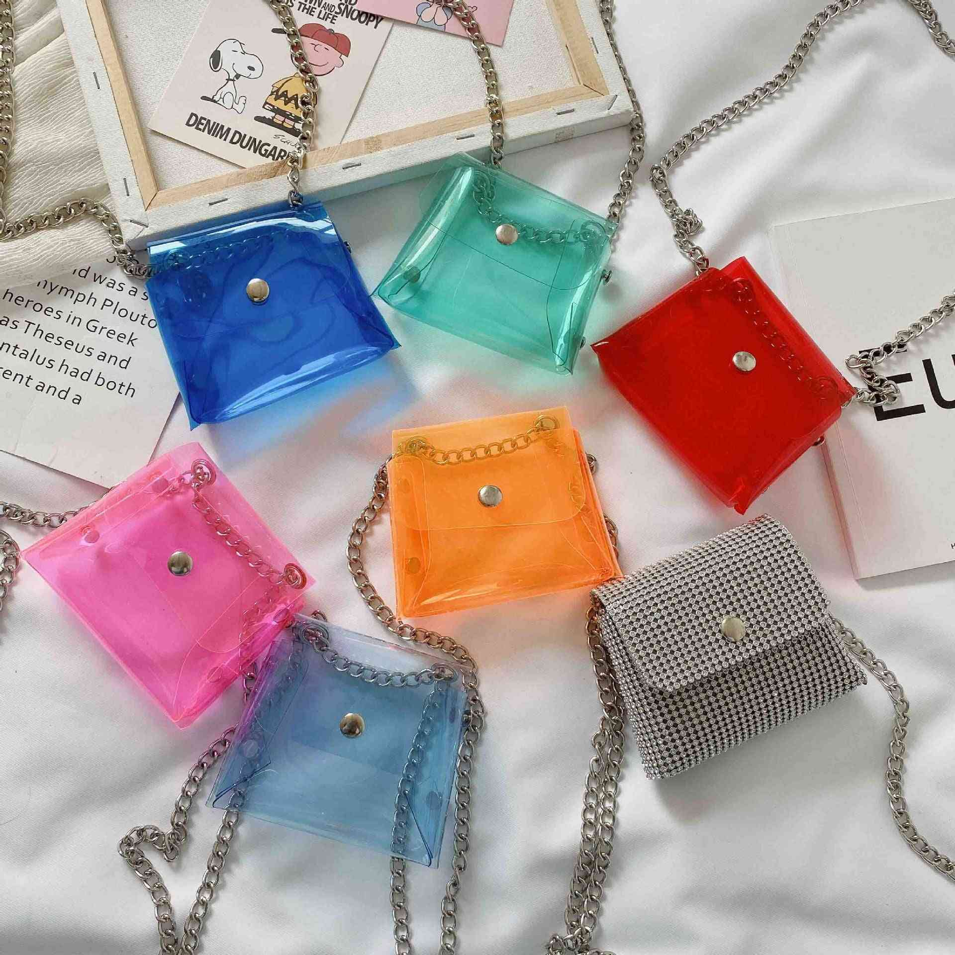 Mini Coin, Transparent Jelly Purse, Small Zero Wallet, Pouch Clear Bag