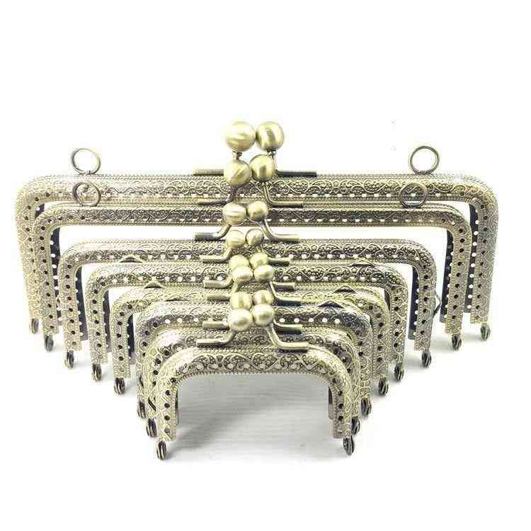 Metal Square Frame Purse Handle, Coin Bags Clasp Lock Accessories
