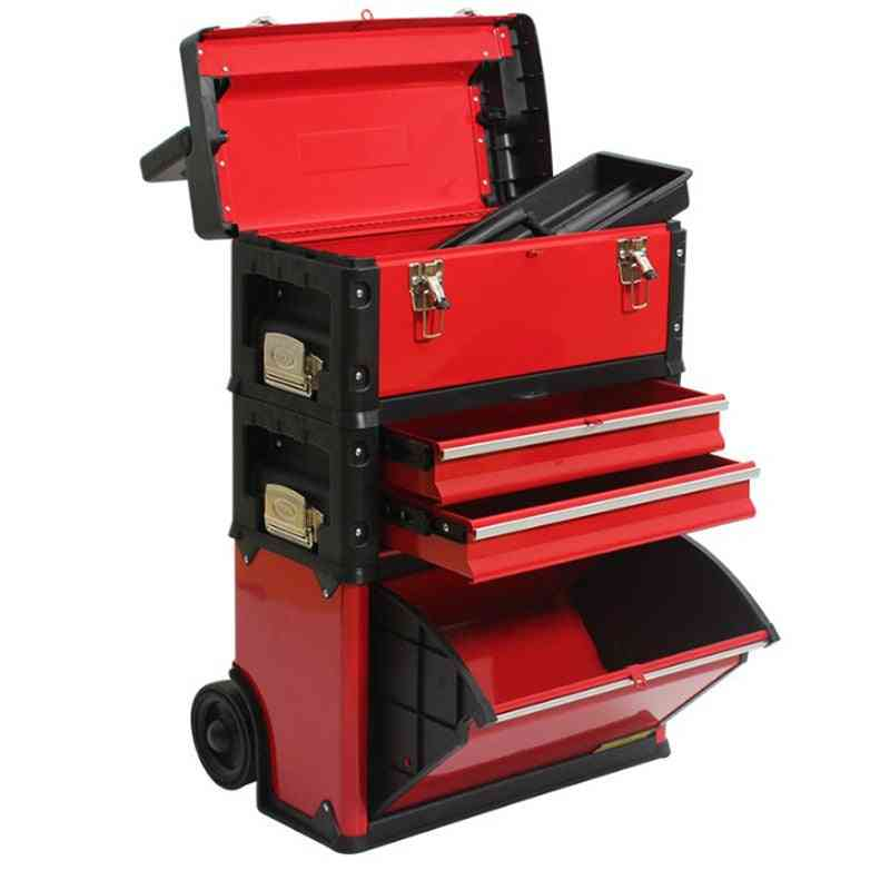 4-layer Separate Multifunction Trolley Toolbox, Hardware Combination Tool Cart