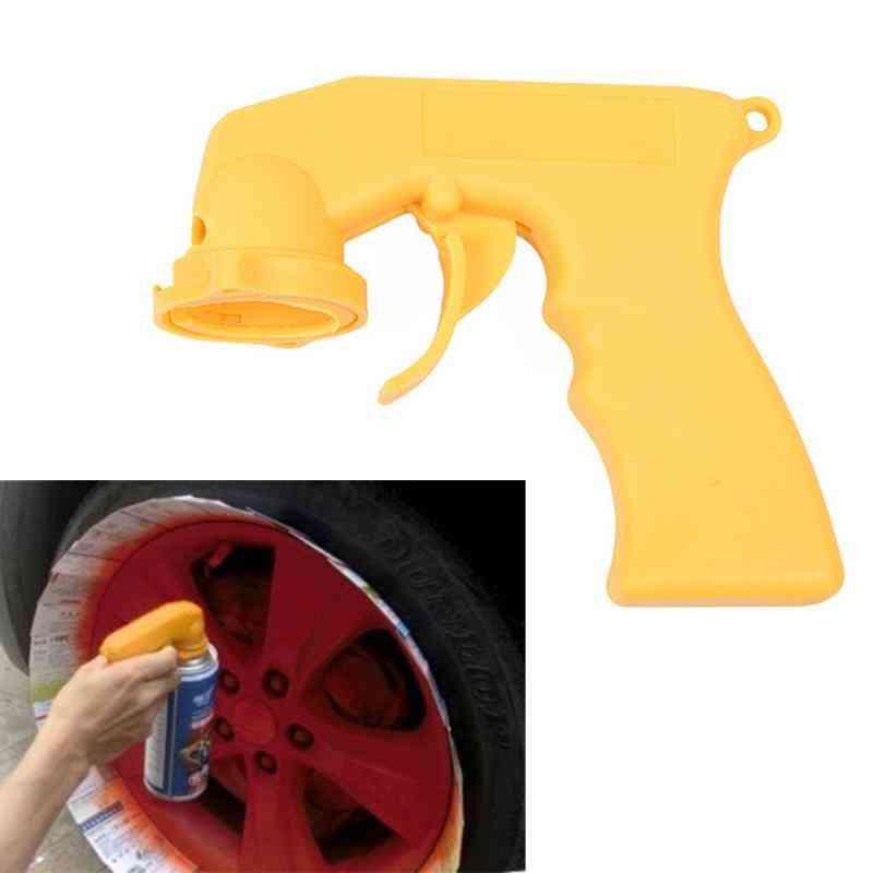 Malowanie natryskowe w aerozolu puszka z plastikową rączką pistoletu z pełnym uchwytem spustowym narzędzie do malowania samochodów, adapter natryskowy