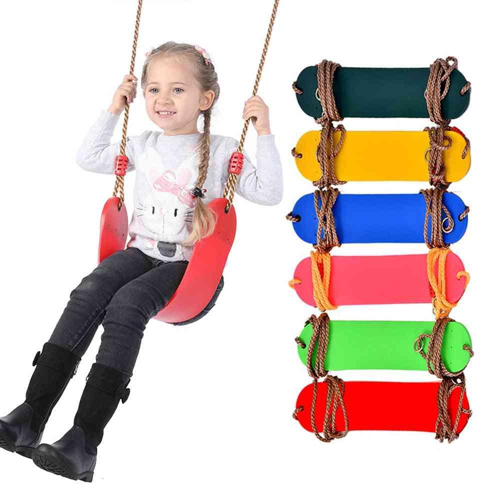 Children's Swing Toy, Indoor / Outdoor Fitness Eva Flexible Board With Chain