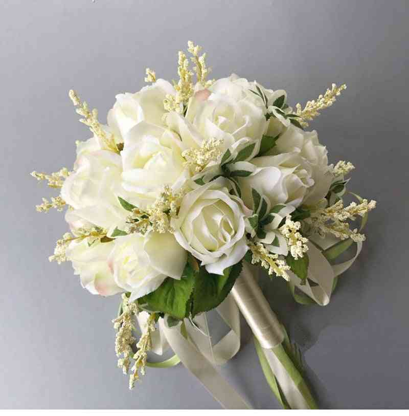 Bouquets Off-white, Handmade Wedding, Artificial Flower For Bridal