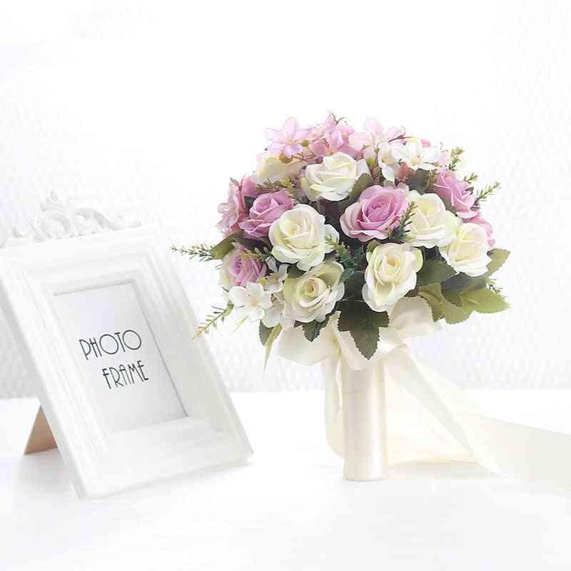 Bouquet Handmade Artificial Flower Bridal For Decorations