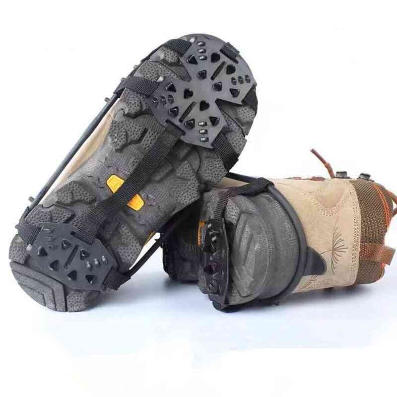 Outdoor Manganese Steel Crampons Anti-skid Shoe Covers, Snow, Hiking, Fishing Shoes Nails