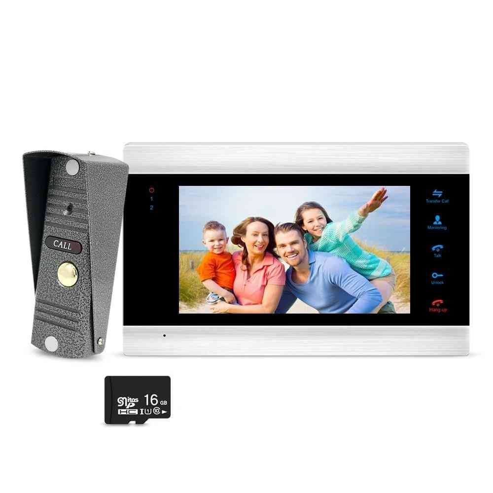 7 Inch- Monitor Video Phone Doorbell Camera With Memory Card