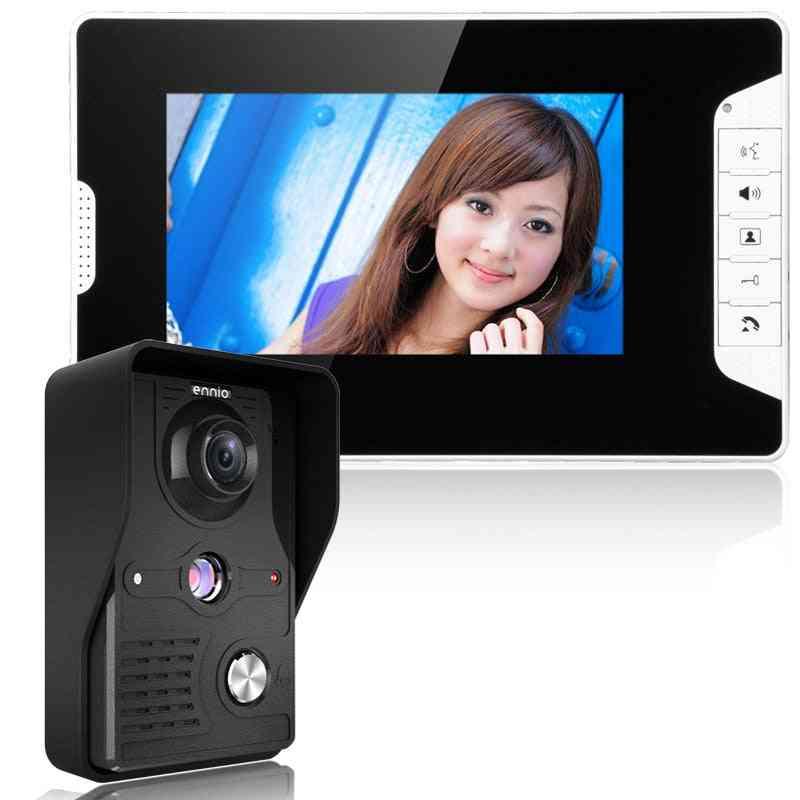 Visual Intercom Doorbell, Wired Video Door Phone System Indoor Monitor