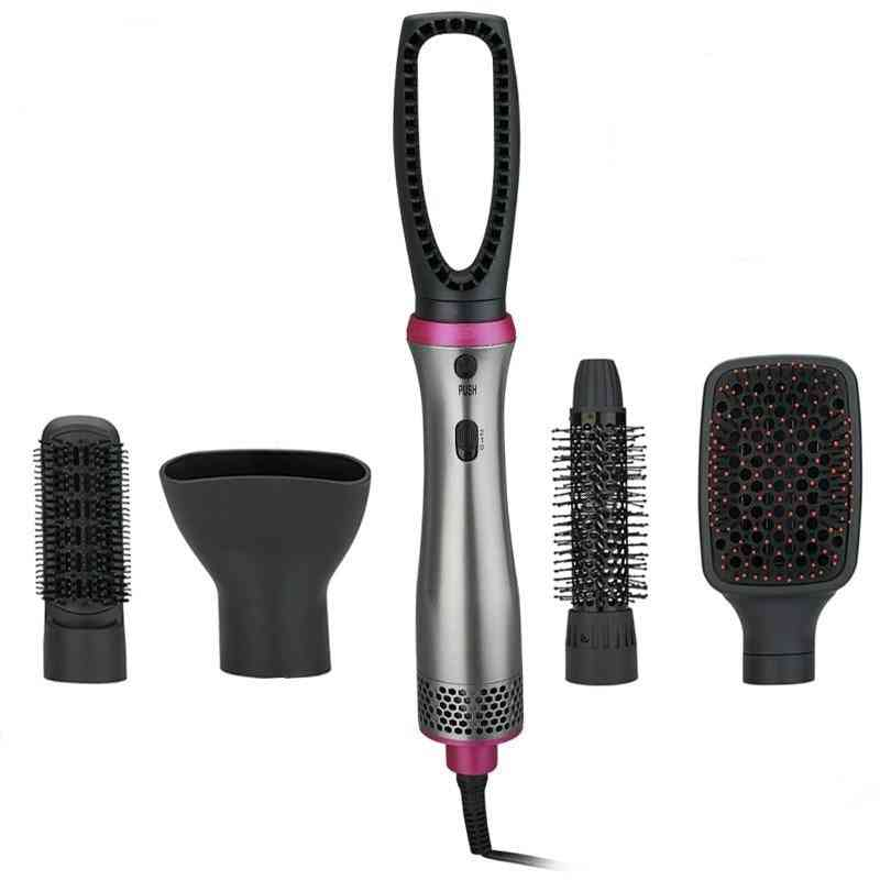 5 In 1 Hot Straight Electric Hair Brush Charge Diffuser Heater Comb