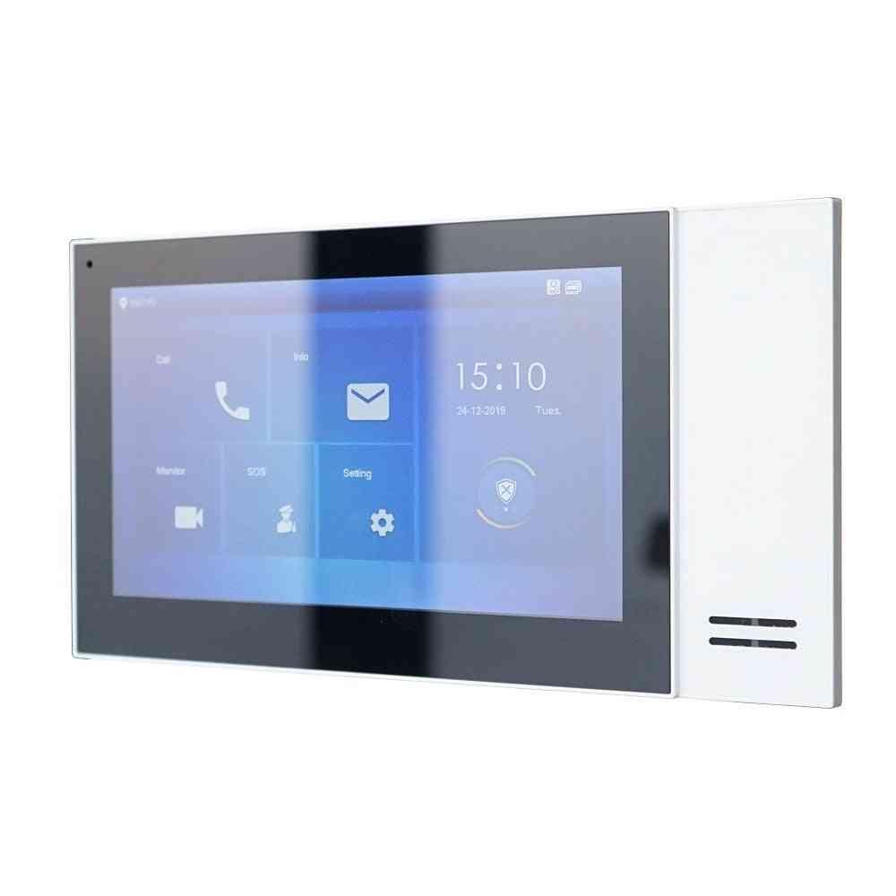 Multi-language 7inch Touch Indoor, Ip Doorbell Video Intercom Monitor