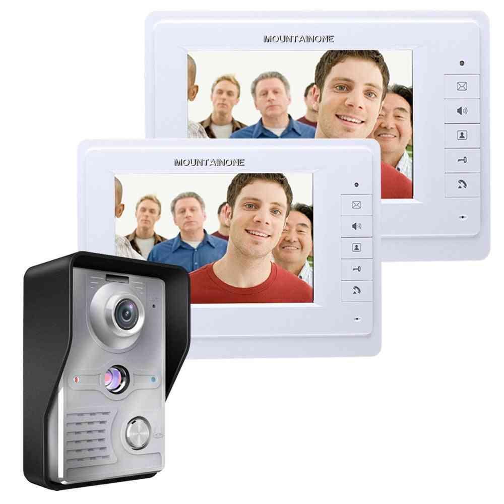 Wired Video, Door Phone, Visual Intercom System, Doorbell Monitor, Camera Kit