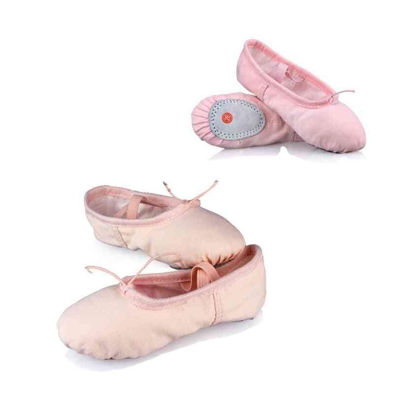 Professional Child Cotton Canvas Soft  Ballet Dance Practice Shoes