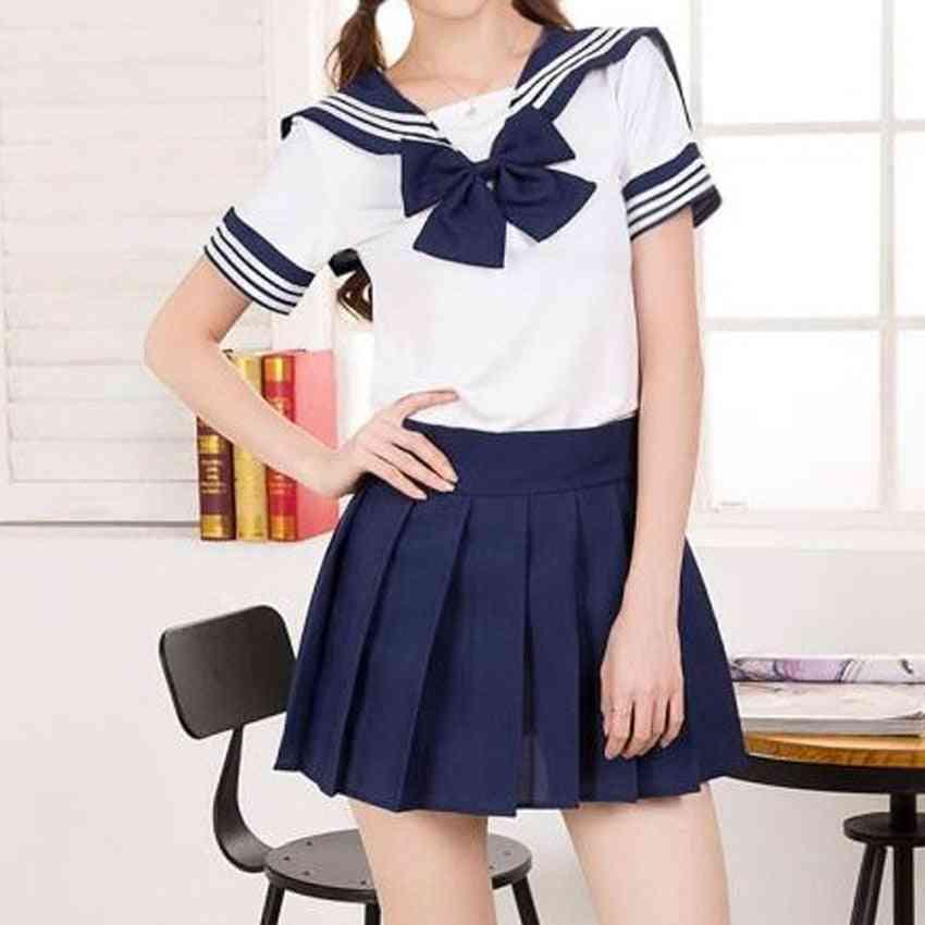 Woman School Uniform Cosplay Costumes, Student Pleated Skirt