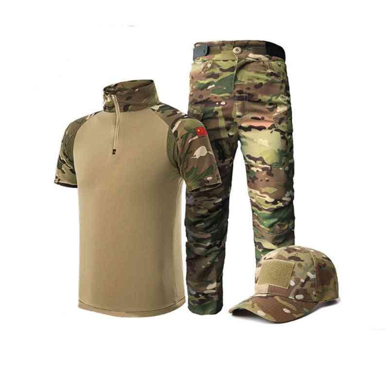 Summer Tactical Short Sleeve Suit Set