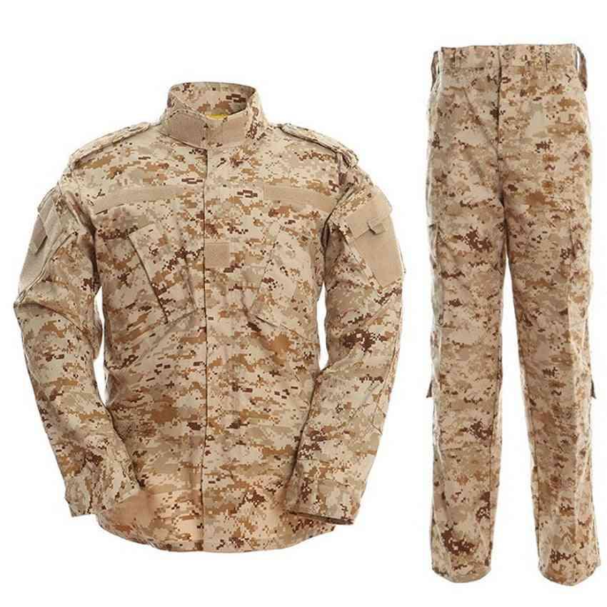 Multicam Camouflage Security Uniform, Tactical Combat Jacket Suit