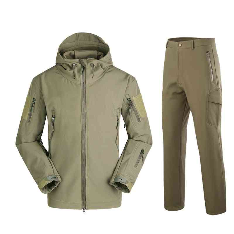 Military Tad Shark Skin Soft Shell Tactical Winter & Autumn Waterproof Suit