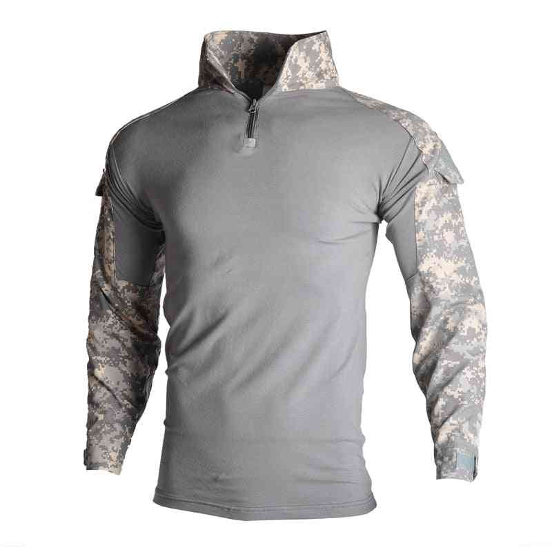 Military Army Long Sleeve Camouflage Tactical Shirt Hunt Combat Multicam T-shirt
