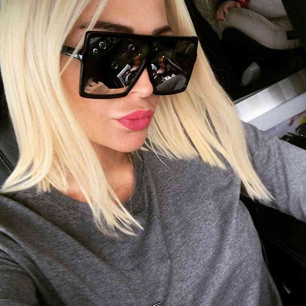Oversized Shades Woman Sunglasses, Fashion Square Big Frame Sunglass