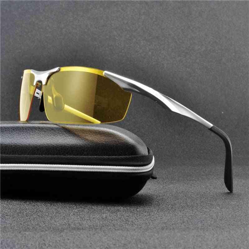 Night Vision Driving Glasses, Men Driver Goggle / Sunglasses