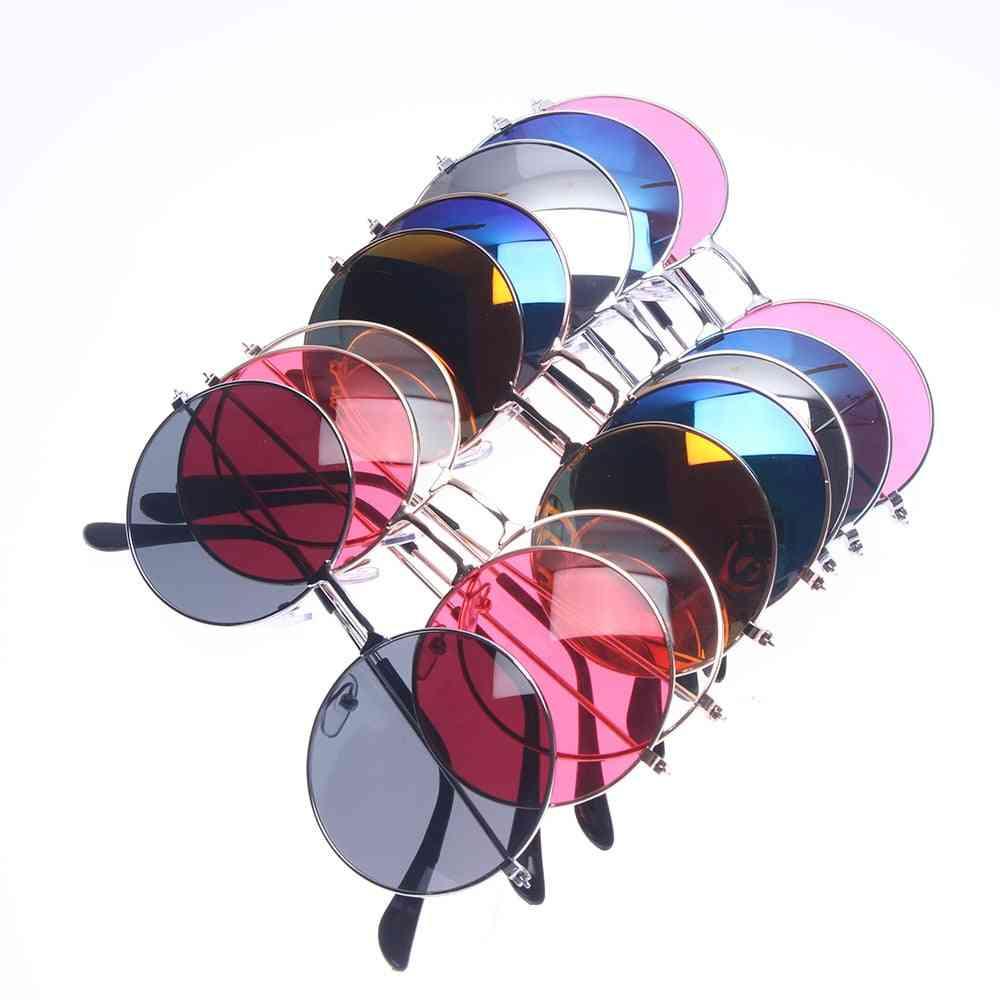 Retro Small Oval Sunglasses Women Vintage Brand Shades Metal Color For Female Fashion