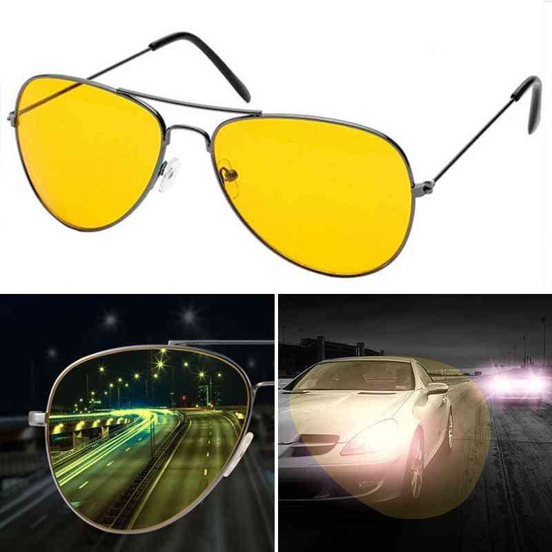 New Night Vision Glasses Men Driving Yellow Lens Women Sunglasses Classic Driver