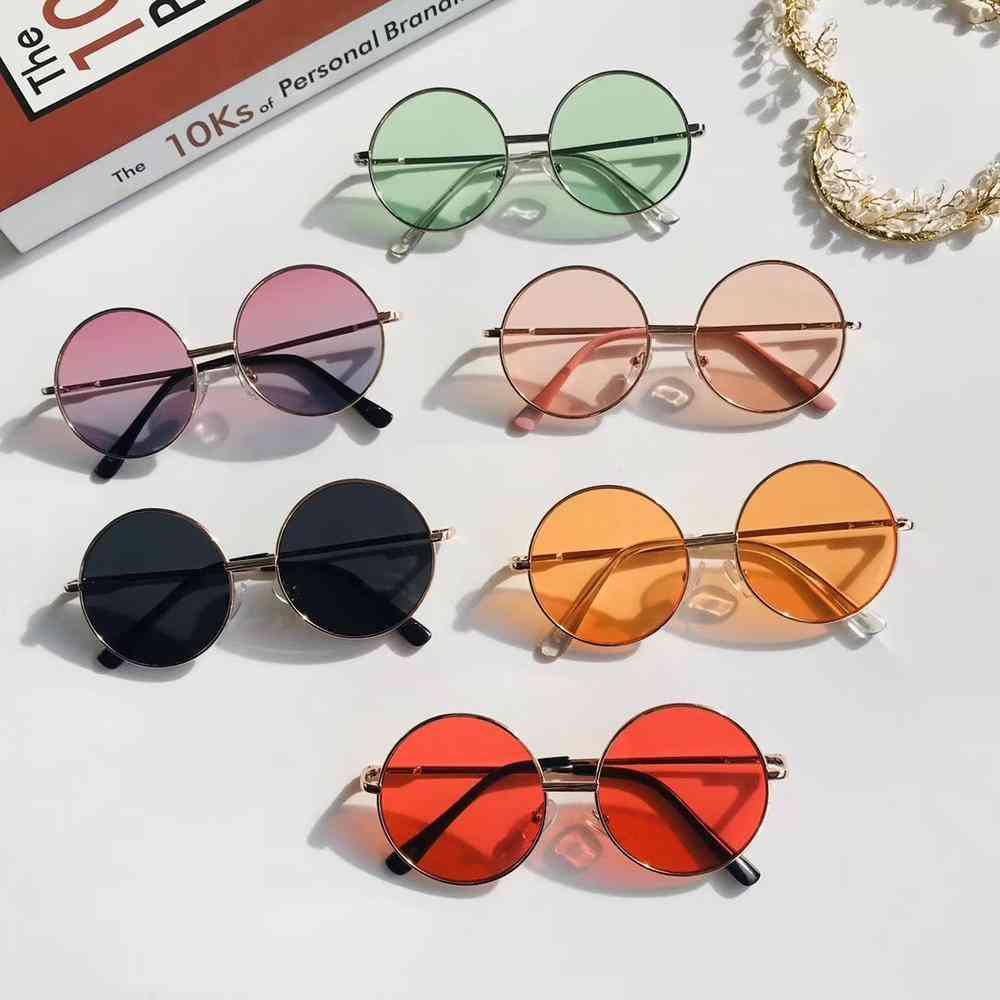 Fashion Retro Sunglasses Colorful Mirror Boy Girl Metal Frame Kids Cute Simple Outdoor