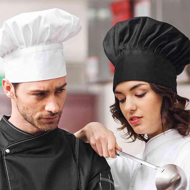1pc Cooking Adjustable Unisex Chef Hat, Kitchen Baker Elastic Hat Working Cap