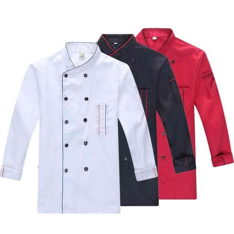 Spring & Summer Catering Uniform Long Sleeve Chef Jacket