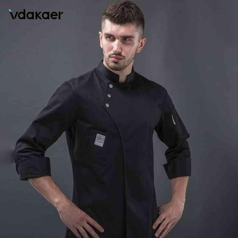 Long Sleeve Chef Uniform Restaurant Kitchen Cooking Chef Waiter Jackets