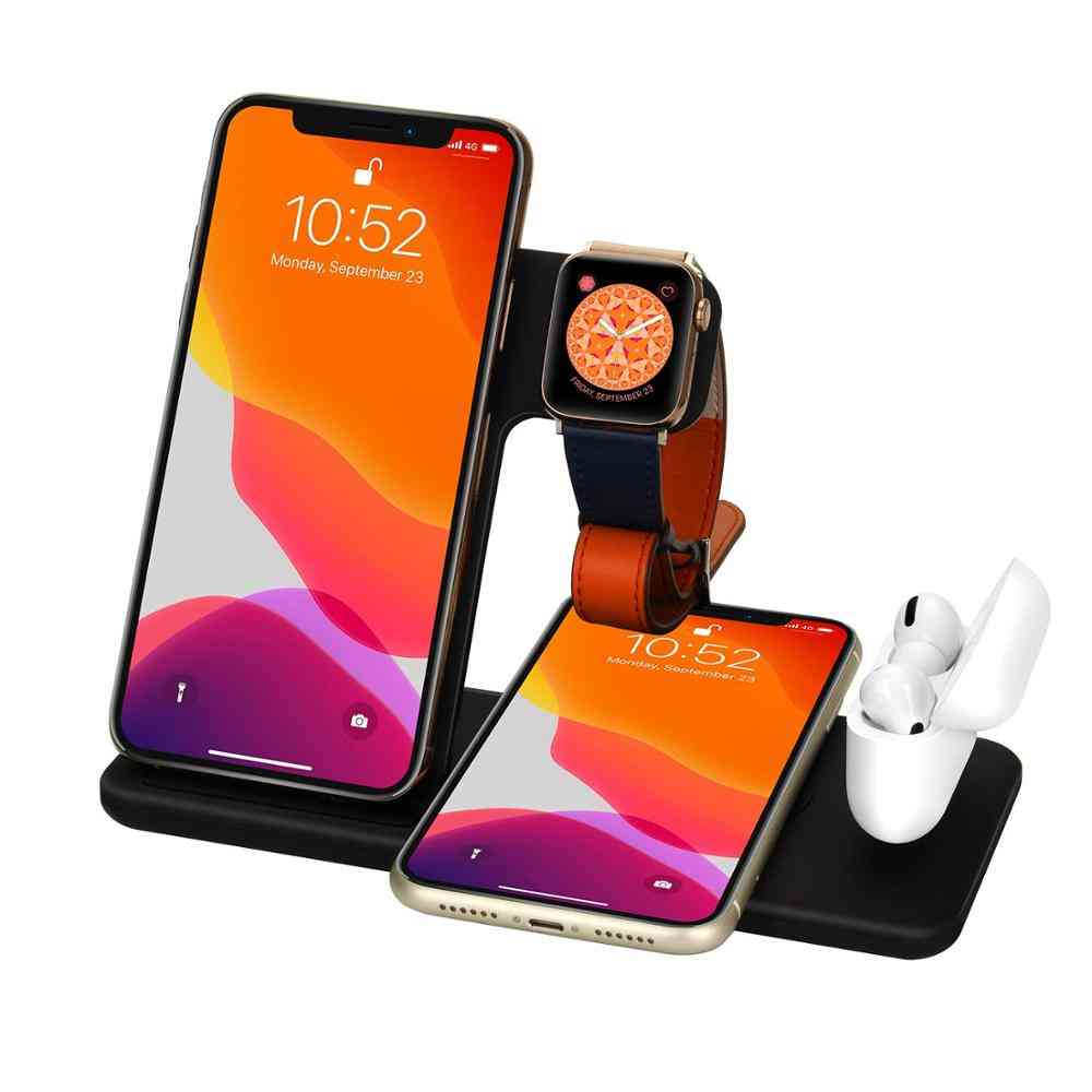 Fast Wireless Charger Stand, Foldable Charging Dock Station