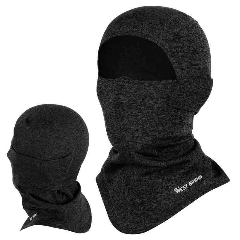 Winter Sport Full Face Mask Fleece Hat
