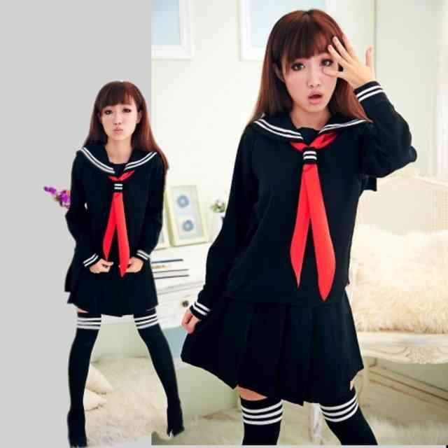 Jk Japanese Fashion School Class Navy Sailor Uniforms For