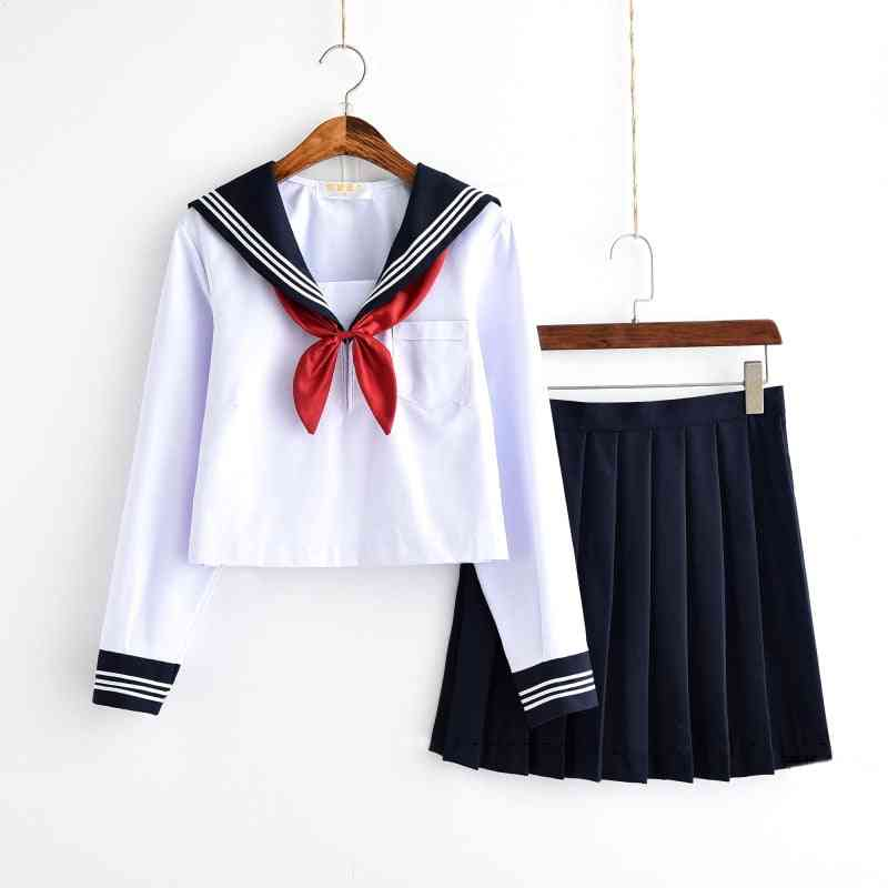 Japanese Class Navy Sailor Uniforms Students Clothes, Sailor Suits