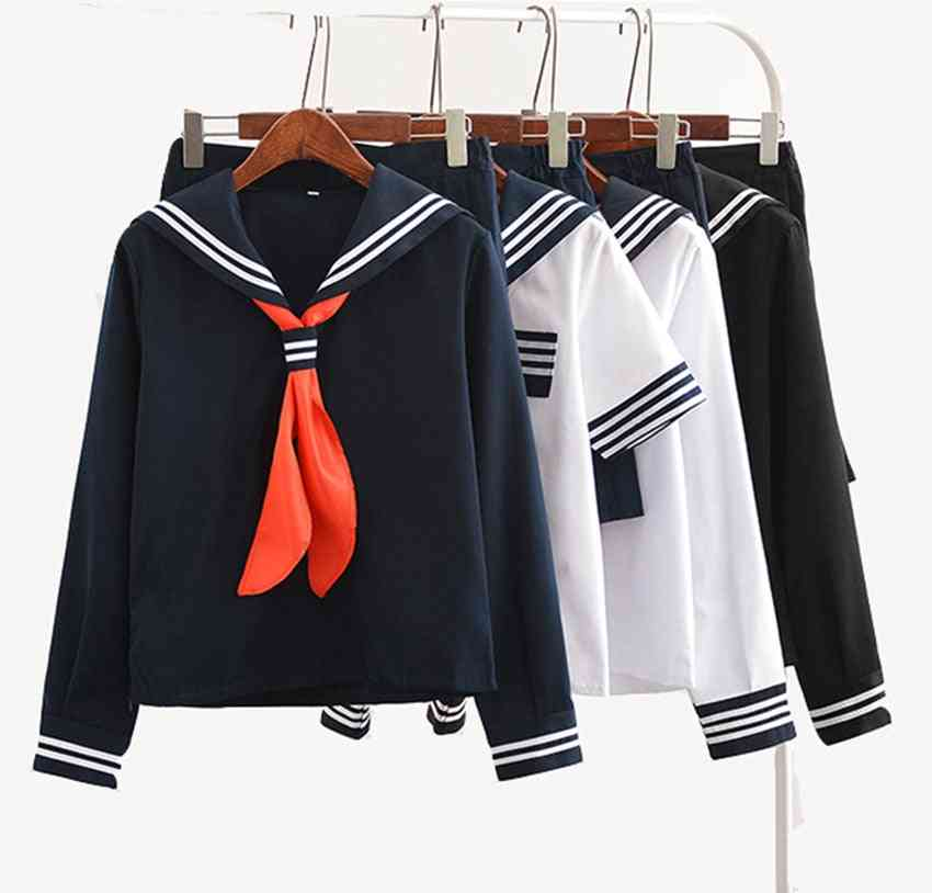 Anime Shoujo Cosplay Costume Hell Girl Student School Uniform Suit Set
