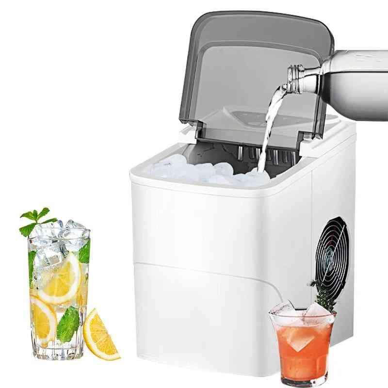 Automatic Electric Ice Maker Household Mini Square Shape Ice Making Machine (white)