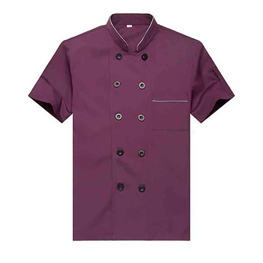 Free Logo Printing Unisex Chef Uniform, Food Service Cook Jacket Coat